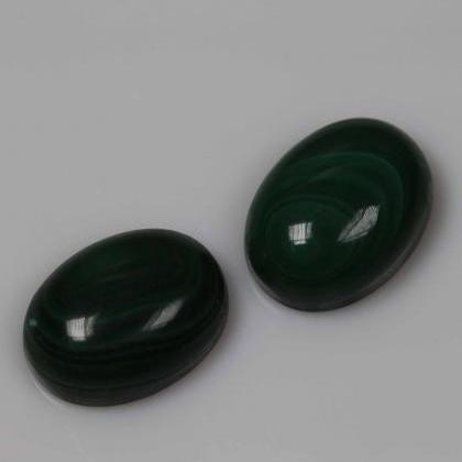 7x5mm Natural Malachite Cabochon Ov..
