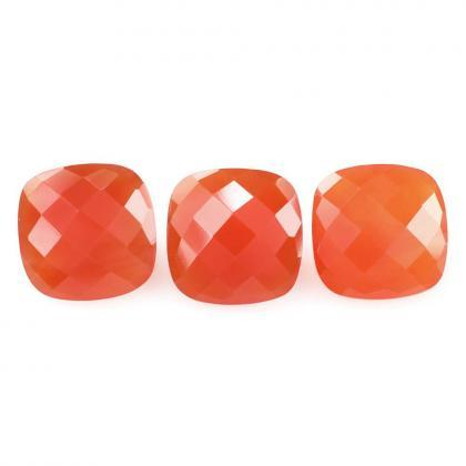 8mm Natural Carnelian Checkerboard ..