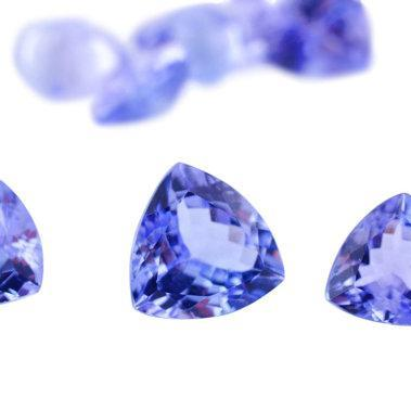 Natural Tanzanite 5mm 2 Pieces Face..