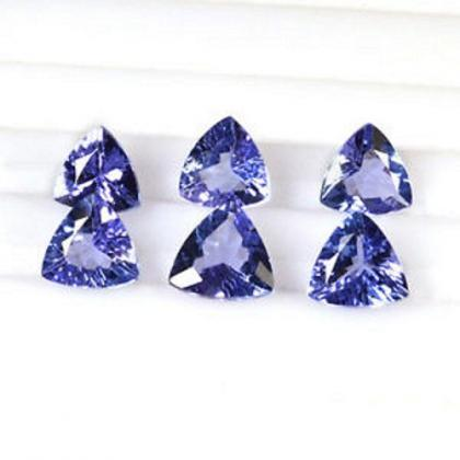 Natural Tanzanite 6mm 10 Pieces Lot..