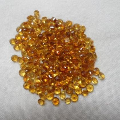 Natural Citrine - 3 mm 10 Pieces Lo..