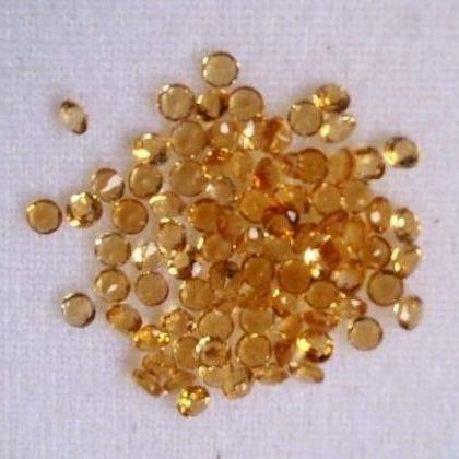 Natural Citrine - 3 mm 25 Pieces Lo..
