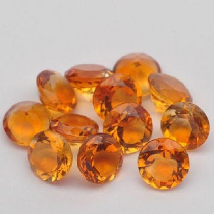 Natural Citrine - 10mm 5 Pieces Lot..