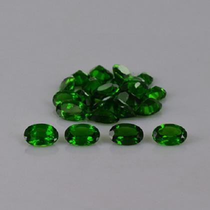 Natural Chrome Diopside 6x4mm 10 Pi..