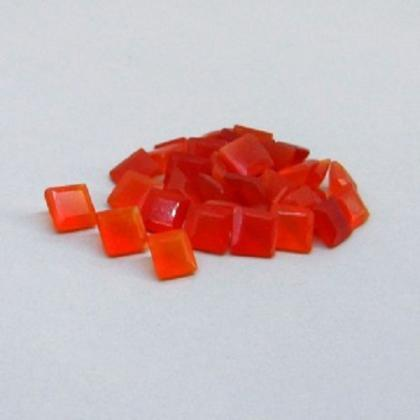 Natural Carnelian 5mm Faceted Cut S..