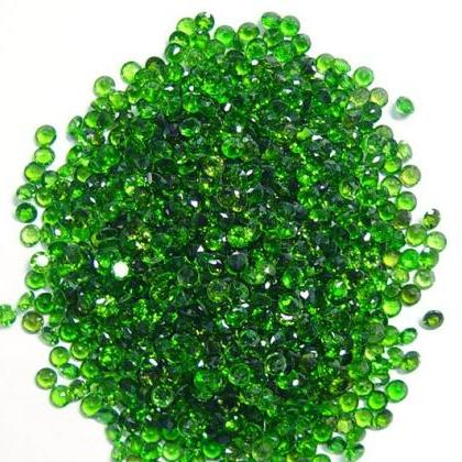 Natural Chrome Diopside- 2.25mm 25 ..