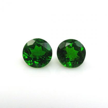 Natural Chrome Diopside- 8mm 1 Piec..