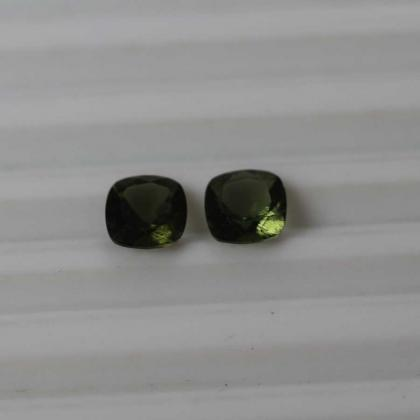 9mm Natural Moldavite Faceted Cut ..