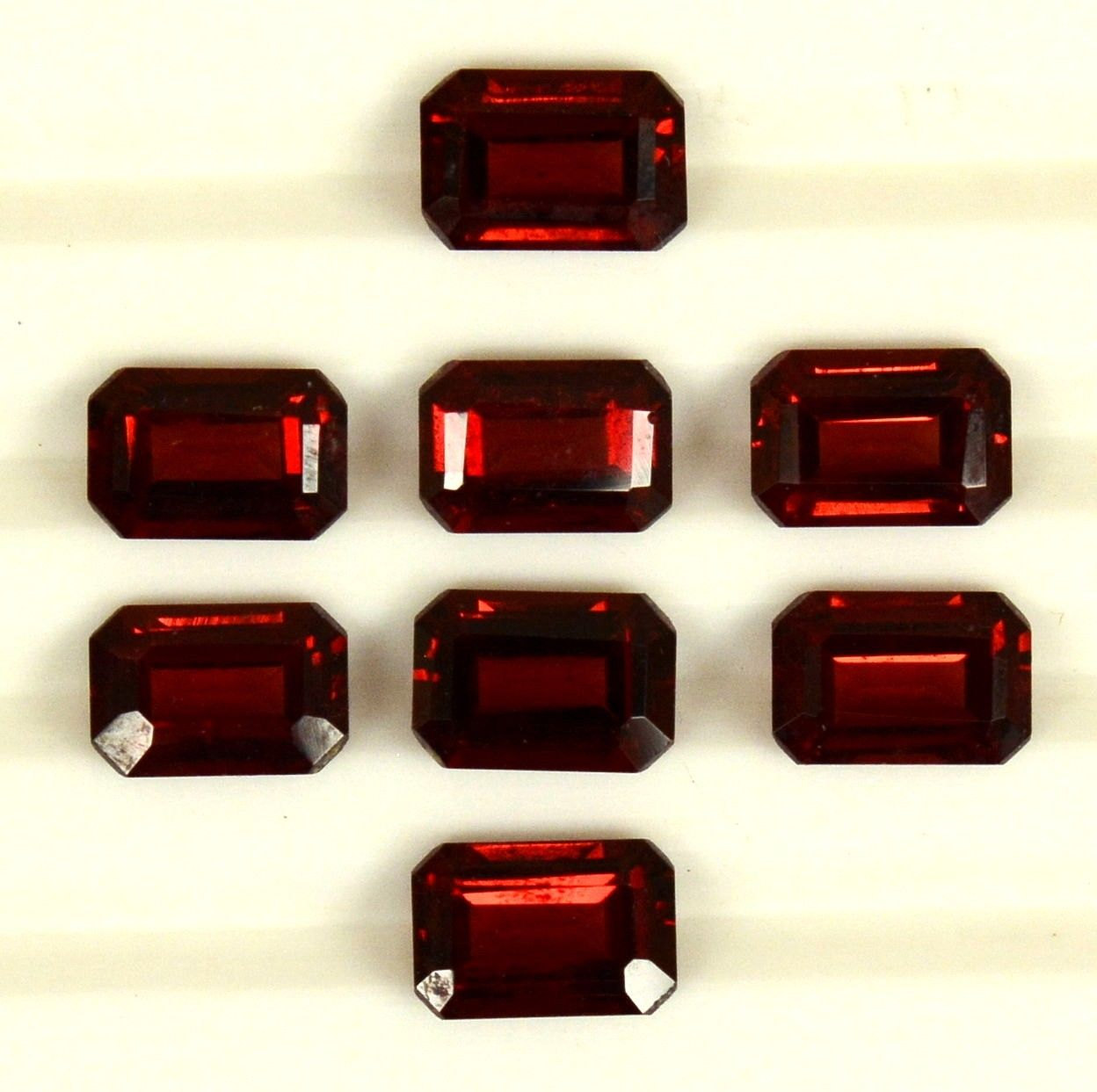 10x8mm Natural Red Garnet Faceted Cut Octagon 5 Pieces Lot Color ( AA) Red Garnet Top Quality Loose Gemstone