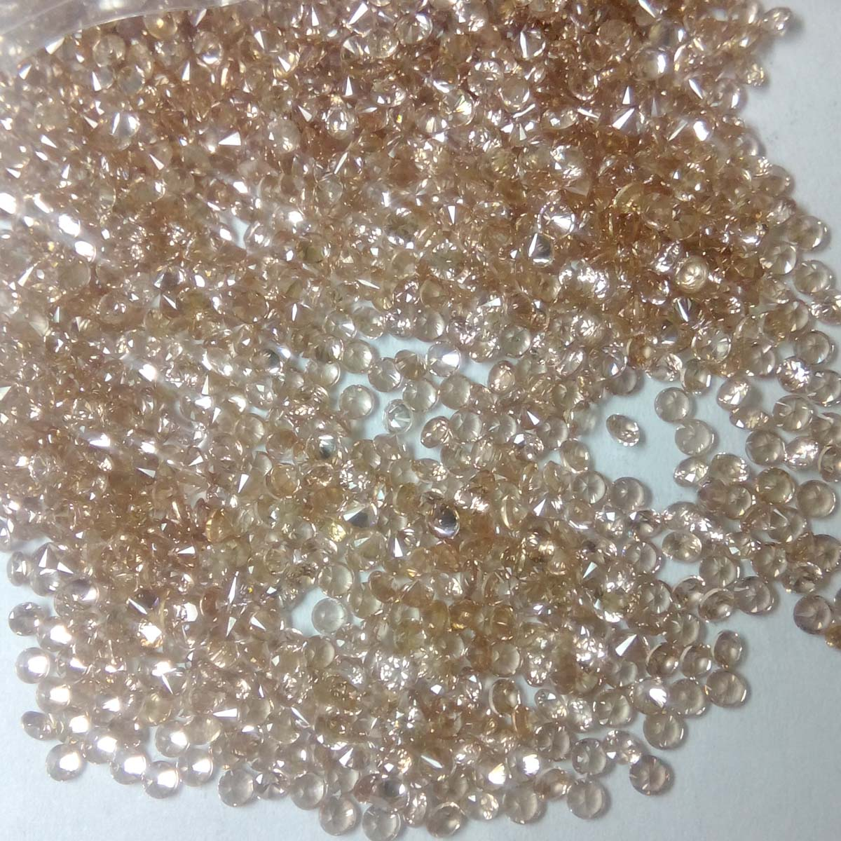 Natural Brown Zircon 2mm Faceted Round Cut 100 Pieces Lot Brown Color - Natural Loose Gemstone