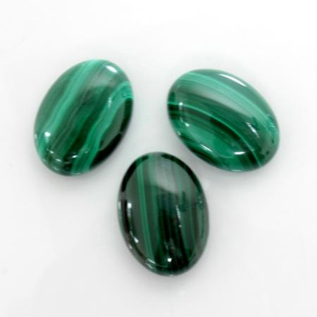 16x12mm Natural Malachite Cabochon Oval 25 Pieces Lot Calibrated Size Top Quality Green Color Loose Gemstone