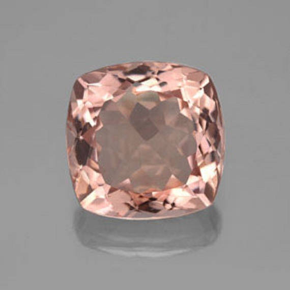 5mm Natural Morganite Faceted Cut Cushion 2 Piece (1 Pair ) Calibrated Size Top Quality Peach Color Loose Gemstone Wholesale for sale