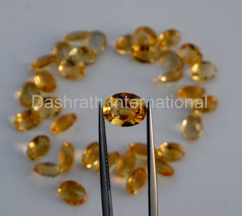 18x13mm Natural Citrine Faceted Cut Oval 1 Piece Yellow Color (AA) Calibrated Size Top Quality Loose Gemstone