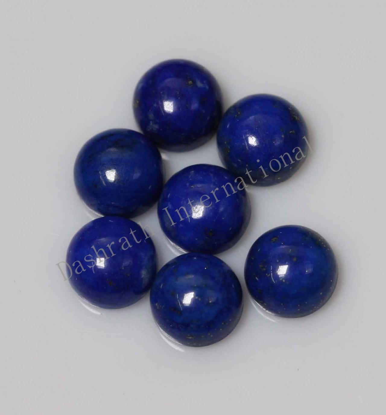 16mm Natural Lapis Lapuli Cabochon Round 5 Pieces Lot Blue Color Top Quality Loose Gemstone