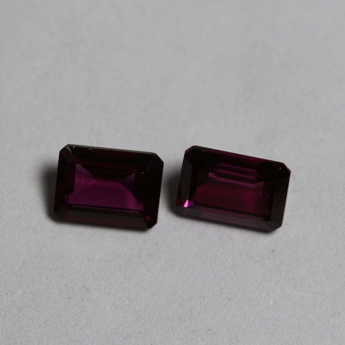7x5mm Natural Rhodolite Garnet Faceted Cut Octagon 5 Pieces Lot Red Pink Color Top Quality Loose Gemstone