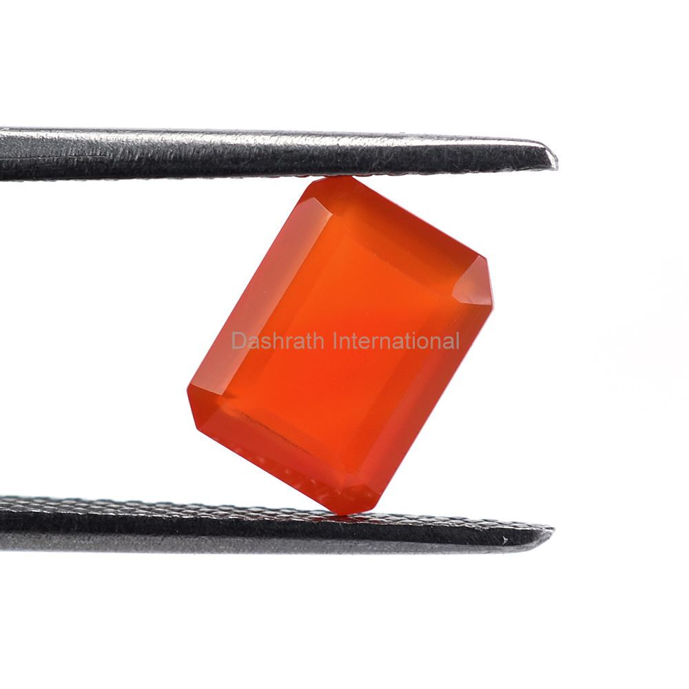 10x8mm Natural Carnelian Faceted Cut Octagon 10 Pieces Lot Calibrated Size Top Quality Orange Color Loose Gemstone