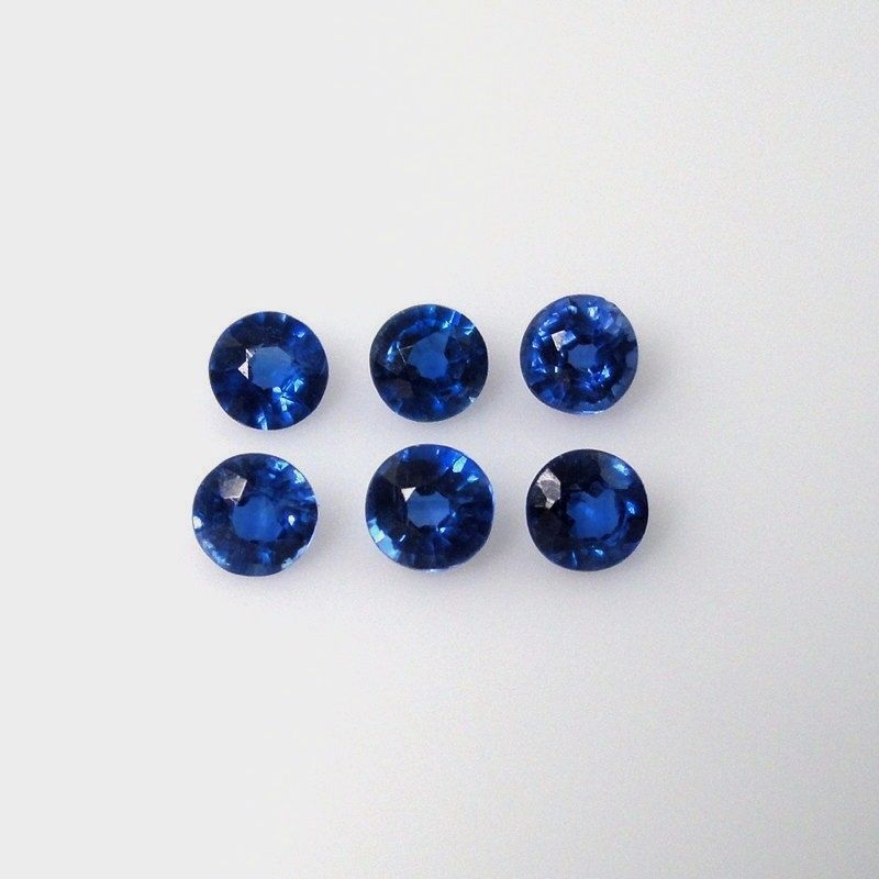 Natural Kyanite 5mm 25 Pieces Lot Faceted Cut Round Blue Color Top Quality Loose Gemstone