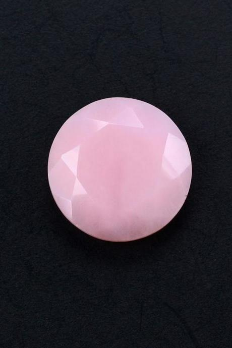 7mm Natural Pink Opal 25 Pieces Lot Faceted Cut Round Top Quality Pink Color Loose Gemstone Wholesale Lot For Sale