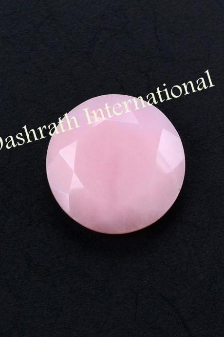 9mm Natural Pink Opal 5 Pieces Lot Faceted Cut Round Top Quality Pink Color Loose Gemstone Wholesale Lot For Sale