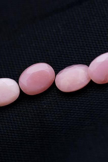 6x4mm Natural Pink Opal 50 Pieces Lot Faceted Cut Oval Top Quality Pink Color Loose Gemstone Wholesale Lot For Sale