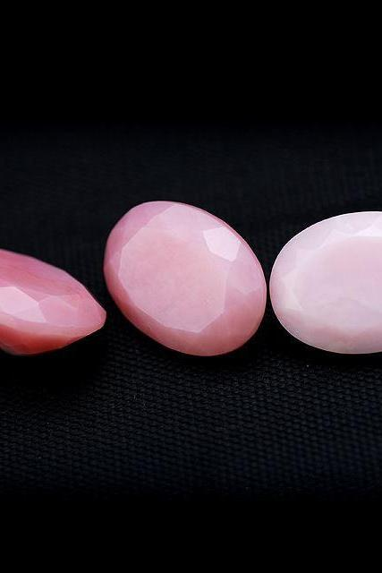 7x5mm Natural Pink Opal 50 Pieces Lot Faceted Cut Oval Top Quality Pink Color Loose Gemstone Wholesale Lot For Sale