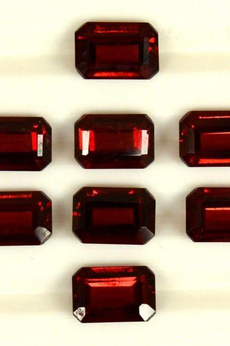 7x5mm Natural Red Garnet Faceted Cut Octagon 5 Pieces Lot Color ( AA) Red Garnet Top Quality Loose Gemstone