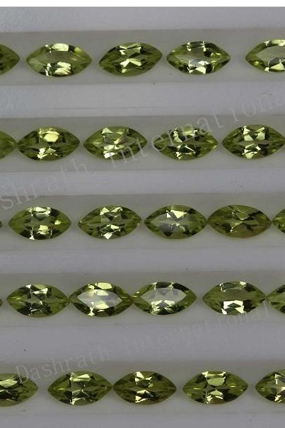 2x4mm Natural Peridot Faceted Cut Marquise 50 Pieces Lot Calibrated Size VS Quality Green Color Loose Gemstone