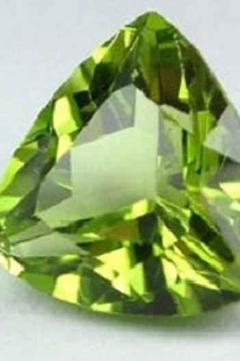8mm Natural Peridot Faceted Cut Trillion 5 Pieces Lot Calibrated Size SI Quality Green Color Loose Gemstone