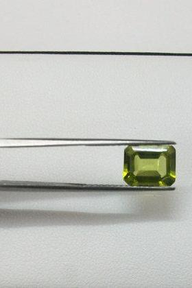 6x4mm Natural Peridot Faceted Cut Octagon 1 Piece Calibrated Size SI Quality Green Color Loose Gemstone