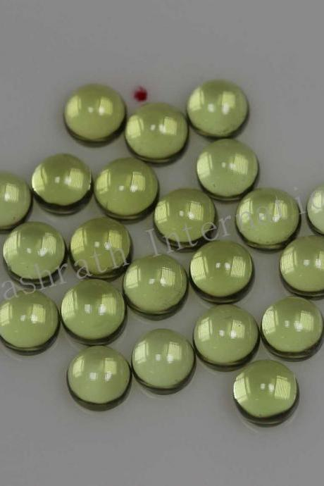 6mm Natural Peridot Cabochon Round 10 Pieces Lot Calibrated Size Top Quality Green Color Loose Gemstone