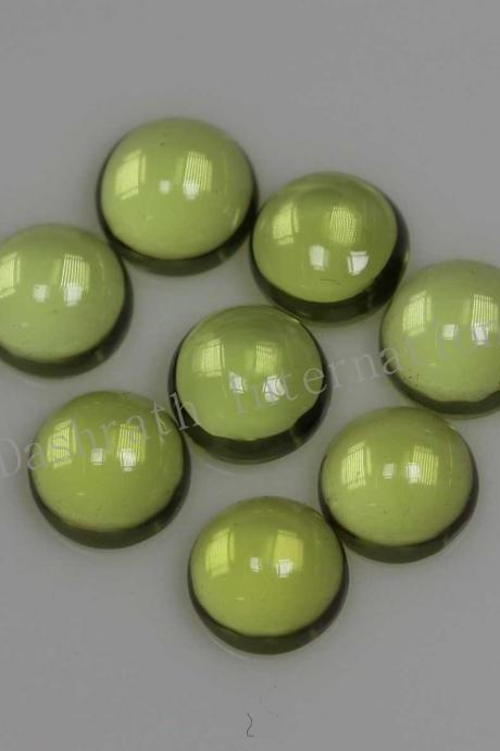 8mm Natural Peridot Cabochon Round 10 Pieces Lot Calibrated Size Top Quality Green Color Loose Gemstone