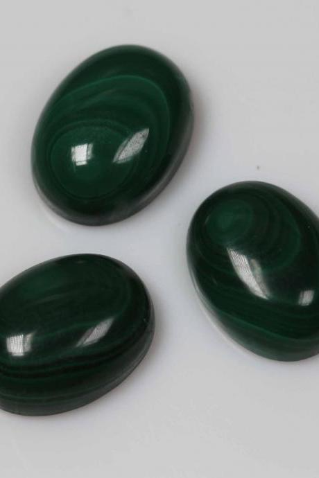 10x12mm Natural Malachite Cabochon Oval 50 Pieces Lot Calibrated Size Top Quality Green Color Loose Gemstone