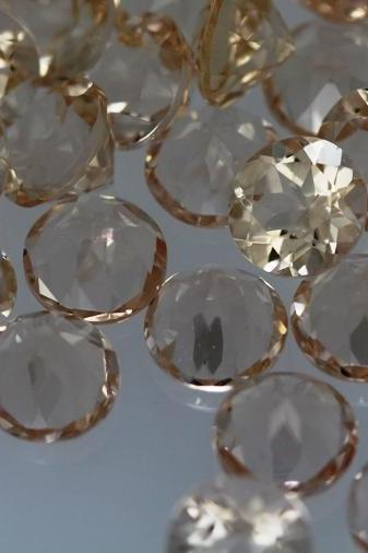 7mm Natural Morganite Faceted Cut Round 5 Pieces Lot Calibrated Size Top Quality Peach Color Loose Gemstone Wholesale for sale