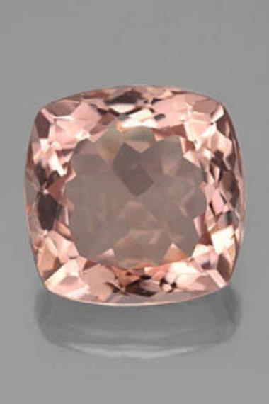 10mm Natural Morganite Faceted Cut Cushion 1 Piece Calibrated Size Top Quality Peach Color Loose Gemstone Wholesale for sale