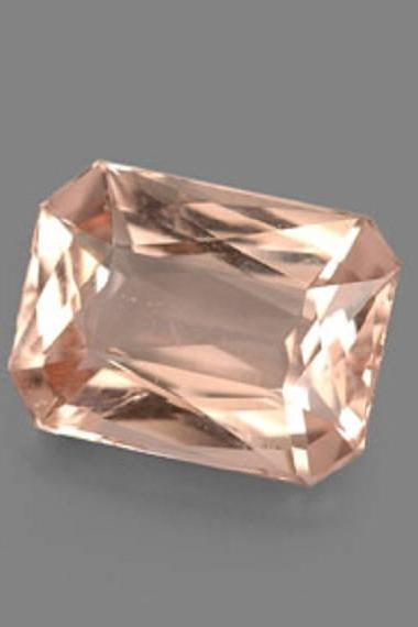 6x4mm Natural Morganite Faceted Cut Octagon 2 Piece (1 Pair ) Calibrated Size Top Quality Peach Color Loose Gemstone Wholesale for sale