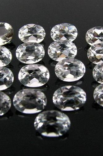 18x13mm Natural Crystal Quartz Faceted Cut Oval 5 Pieces Lot Calibrated Size Top Quality white Color Loose Gemstone