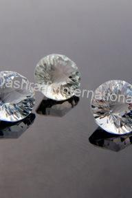 10mm Natural Crystal Quartz Concave Cut Round 5 pieces Lot Calibrated Size Top Quality white Color Loose Gemstone