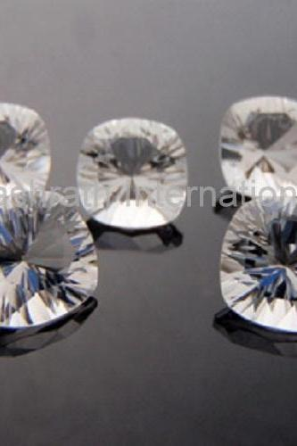 12mm Natural Crystal Quartz Concave Cut Cushion 10 Pieces Lot Calibrated Size Top Quality white Color Loose Gemstone