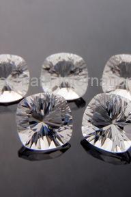 16mm Natural Crystal Quartz Concave Cut Cushion 10 Pieces Lot Calibrated Size Top Quality white Color Loose Gemstone