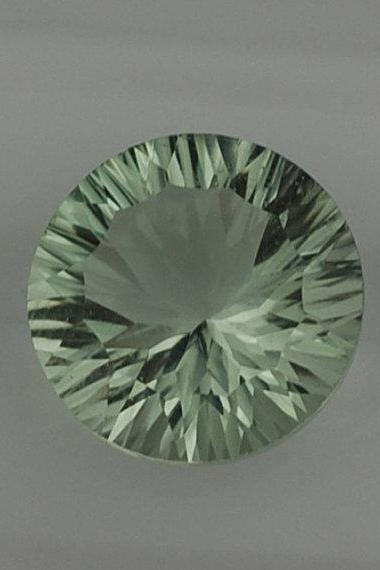 13mm Natural Green Amethyst Concave Cut Round 10 Pieces Lot Green Color Top Quality Loose Gemstone
