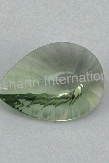 10x14mm Natural Green Amethyst Concave Cut Pear 75 Pieces Lot Green Color Top Quality Loose Gemstone