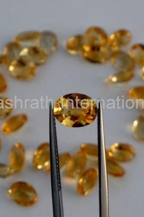 3x4mm Natural Citrine Faceted Cut Oval 1 Piece Yellow Color (AA) Calibrated Size Top Quality Loose Gemstone