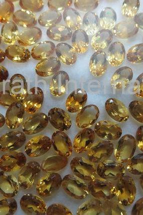 7x9mm Natural Citrine Faceted Cut Oval 1 Piece Yellow Color (AA) Calibrated Size Top Quality Loose Gemstone