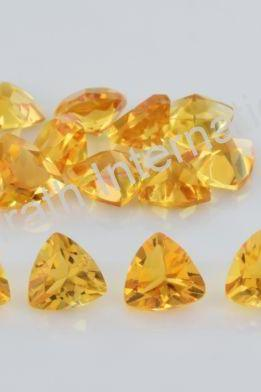 6mm Natural Citrine Faceted Cut Trillion 10 Pieces Lot Yellow Color (AA) Calibrated Size Top Quality Loose Gemstone