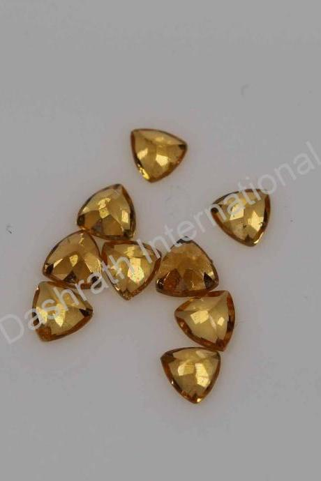 6mm Natural Orange Garnet Faceted Cut Trillion 5 Pieces Lot Orange Color Calibrated Size Top Quality Loose Gemstone