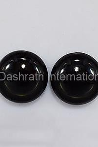 19mm Natural Black Onyx Cabochon Round 75 Pieces Lot Top Quality Black Color Loose Gemstone Wholesale Lot For Sale