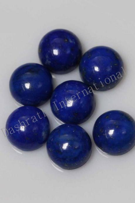 11mm Natural Lapis Lapuli Cabochon Round 25 Pieces Lot Blue Color Top Quality Loose Gemstone
