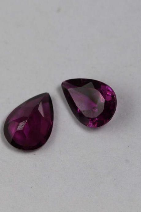 7x10mm Natural Rhodolite Garnet Faceted Cut Pear 10 Pieces Lot Red Pink Color Top Quality Loose Gemstone