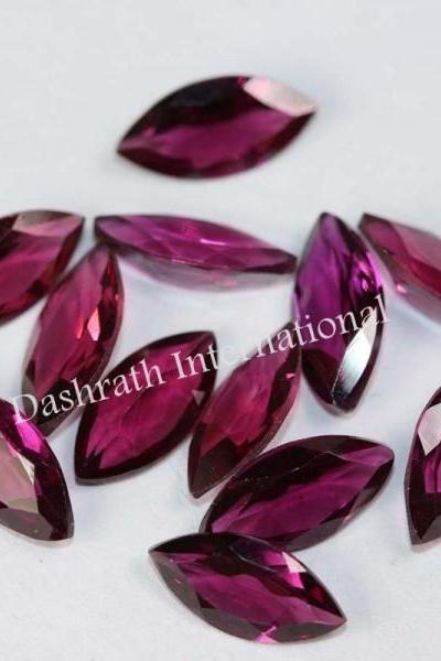 3.5x7mm Natural Rhodolite Garnet Faceted Cut Marquise 75 Pieces Lot Red Pink Color Top Quality Loose Gemstone