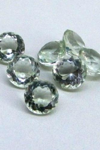 10mm Natural Green Amethyst Faceted Cut Round 1 Piece Green Color Top Quality Loose Gemstone